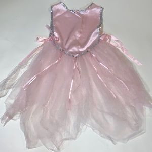 Girls Pink and Silver Princess Costume Adjustable